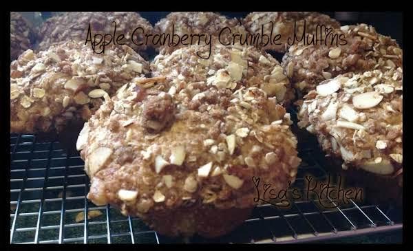 Apple Cranberry Crumble Muffins Recipe