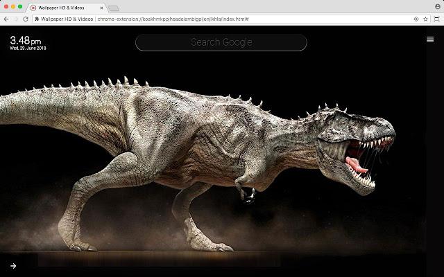 Dinosaur Full HD Wallpaper Theme New Tab