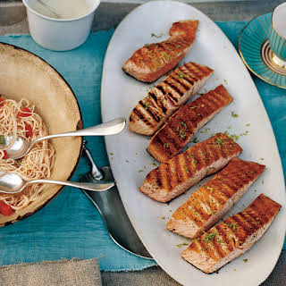 Grilled Salmon with Lime Butter Sauce recipe | Epicurious.com.