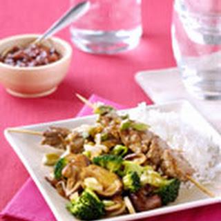 Biefstuksaté Met Gewokte Paddenstoelen, Broccoli En Gember
