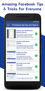 Tips & Tricks For Facebook : Facebook Tips - náhled