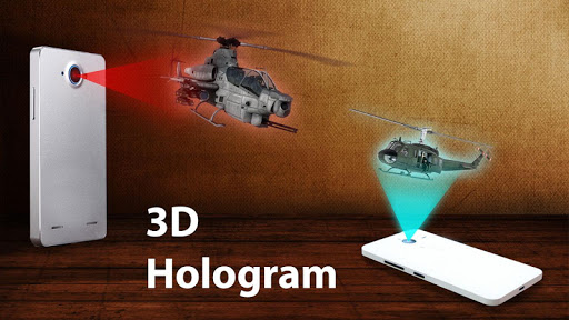 Helicopter 3D Hologram