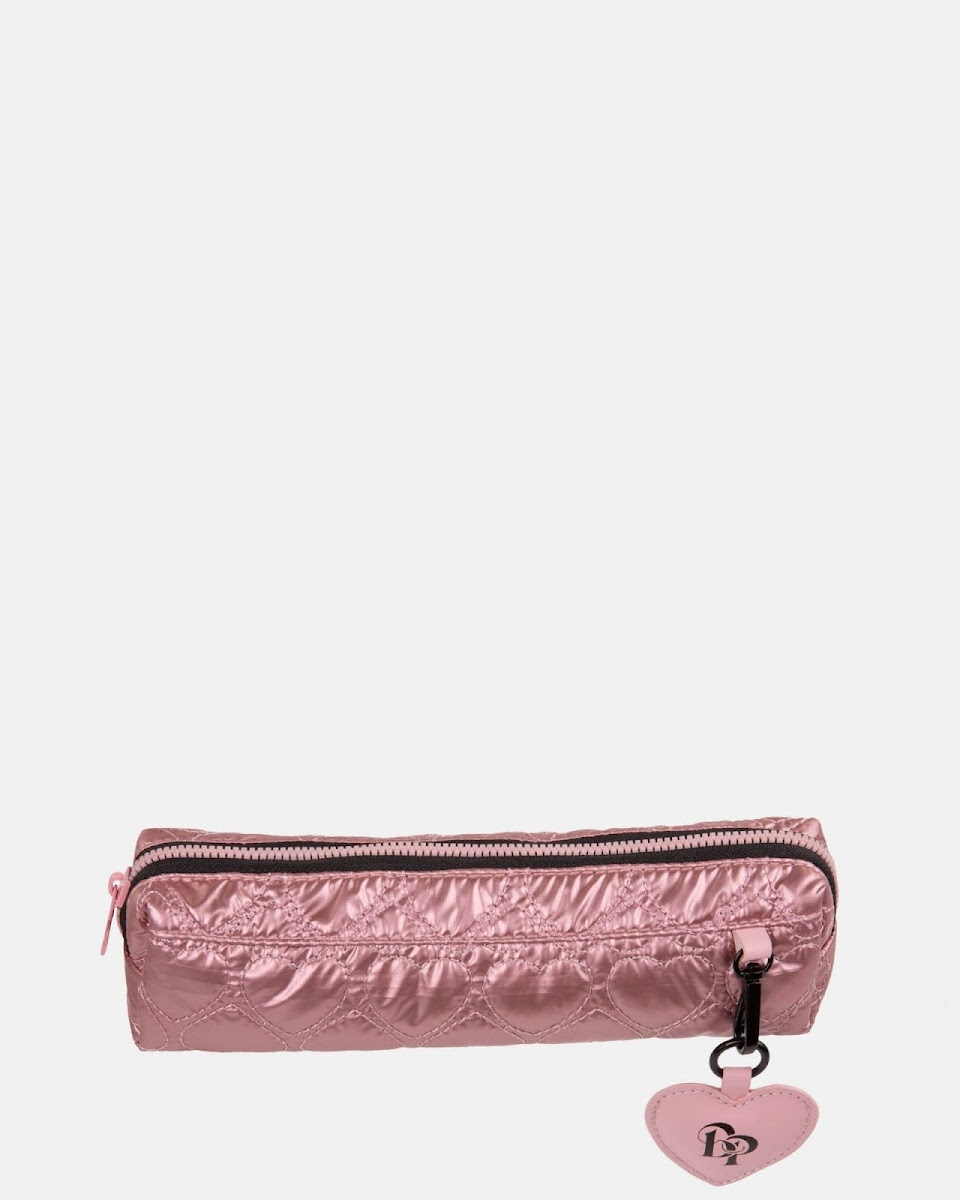 be still my heart pink pencil case