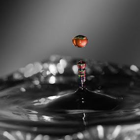 a touch of color  by Paul Wante - Abstract Water Drops & Splashes ( abstract, macro, waterdrop, colors, bokeh )
