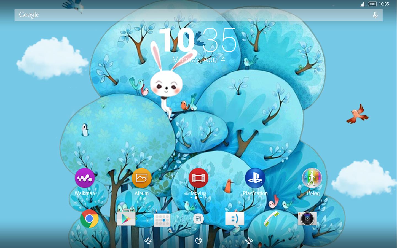 Google themes fox - Fox And Rabbit Xperia Theme Screenshot