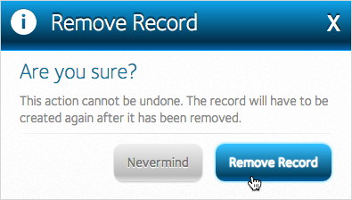 Remove Record button