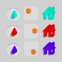 Rainbow drops icon