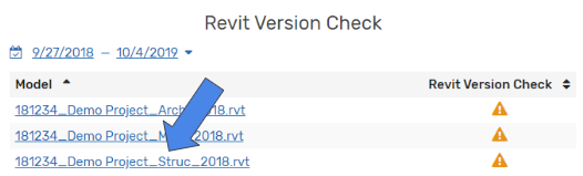 Reviewing Project Analytics - Revit Version Check