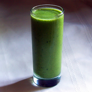 Green Grape Kale and Frozen Banana Smoothie.