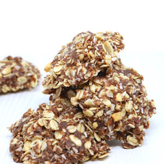 Healthy No-Bake Chocolate Oatmeal Cookies.