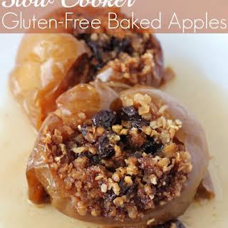 Gluten Free Slow Cooker Baked Apples.