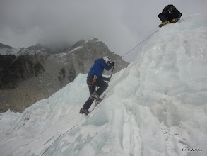 Photo: Practicing on the glacier