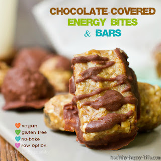 Chocolate-Covered Almond Butter Energy Bites or Bars