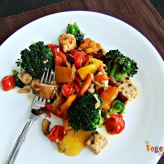 BBQ Tempeh Stir Fry – #glutenfree #vegan