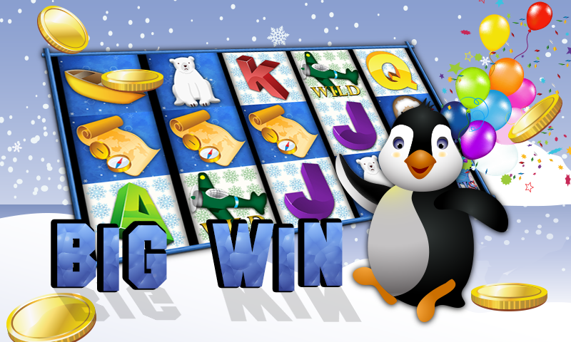 android Slots Penguin Super Casino Win Screenshot 0