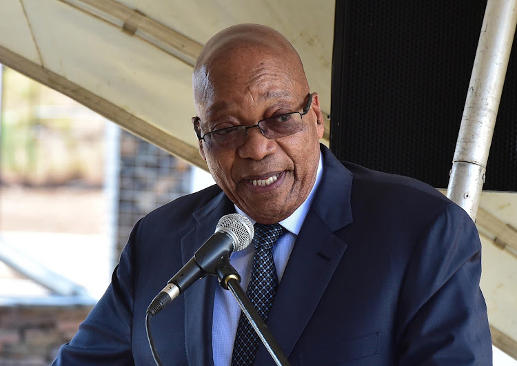 President Jacob Zuma addresses the official opening of the Groot Marico Heritage Site and Liberation Heritage Route of the Bokone Bophirima Province on 4 October 2017.