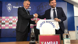 Lucas Alcaraz ya ejerce de entrenador en el Real Zaragoza.