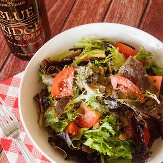 Refreshing homemade Vinaigrette salad dressing.