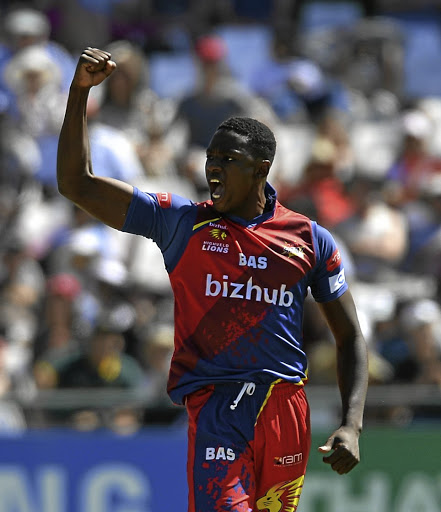 Trump card: Kagiso Rabada is the Ram Slam tournament's leading wicket-taker with eight scalps so far, and he will be gunning for more against the Titans. Picture: ASHLEY VLOTMAN/GALLO IMAGES