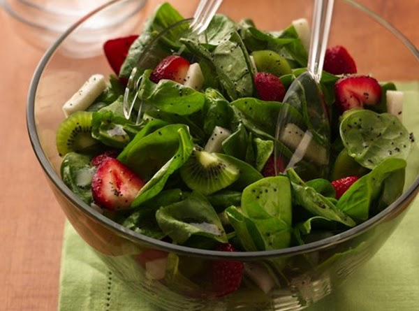 Strawberry & Jicama Spinach Salad For Two Recipe