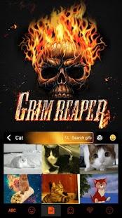 Grim Skull Emoji Keyboard - náhled