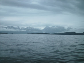 Photo: Taisani, Anyaka, Shikosi Islands with the Chilkat Mountains in the distance.
