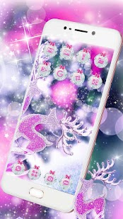Purple Diamond Deer Bowknot Theme - náhled