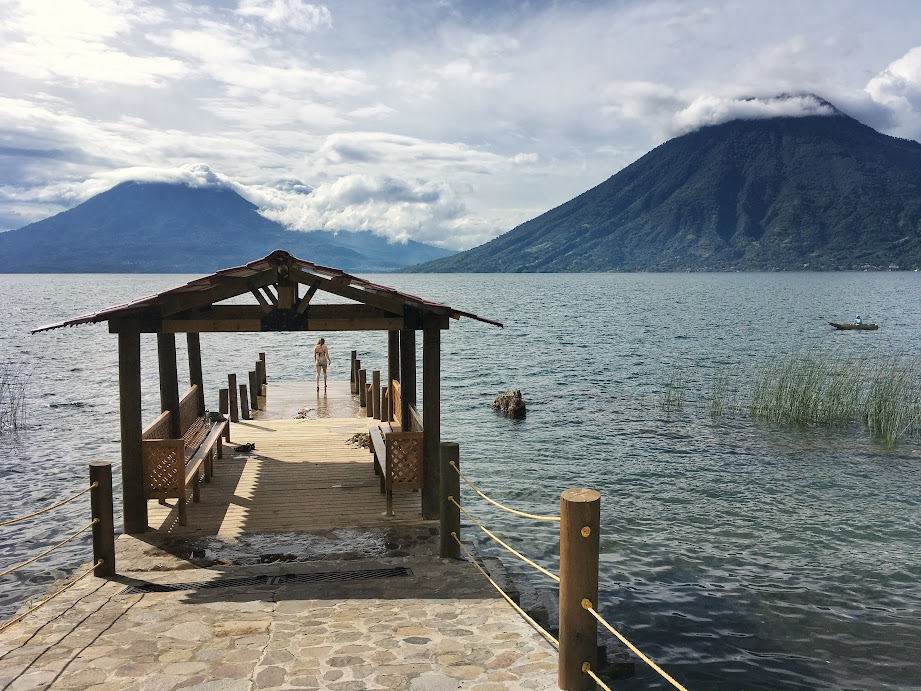 San Marcos offers Lake Atitlan's best swimming spots and clearest water.