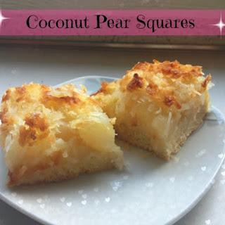 Pear Coconut Squares