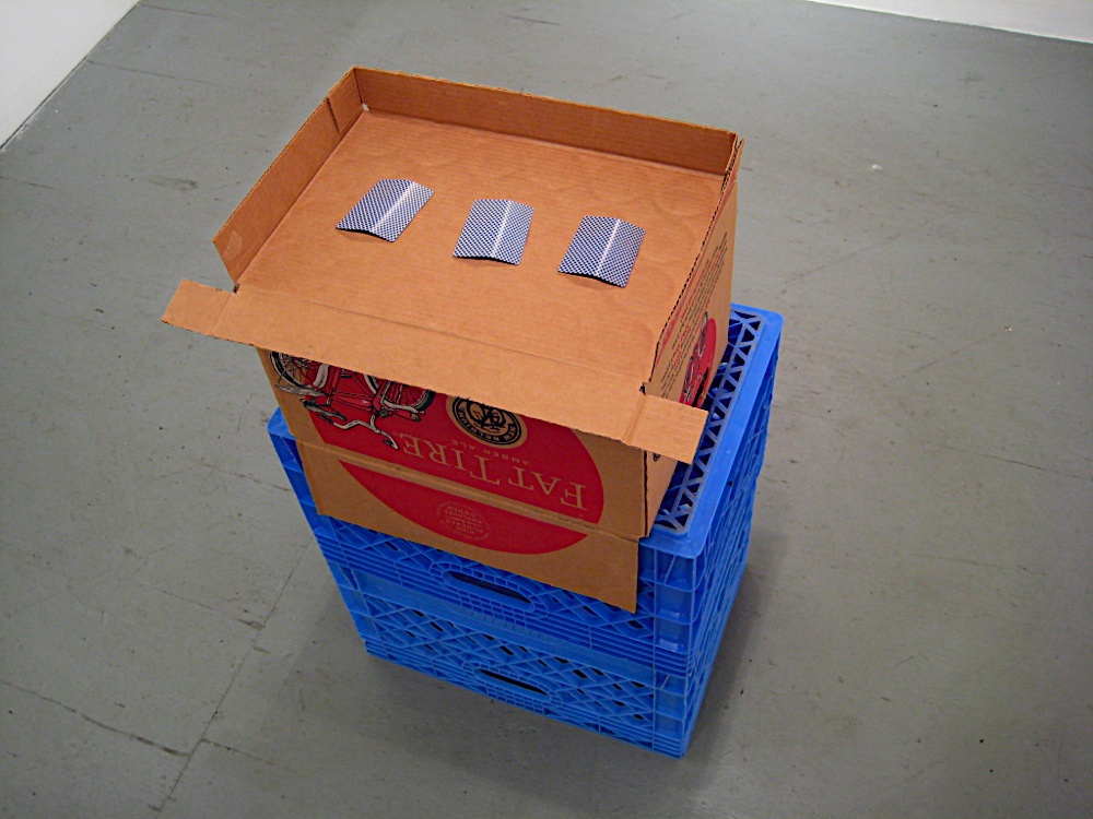 Photo: Everyone's a Loser (trompe monte) 2008 dimensions variable color prints, pencil, cardboard, egg crates