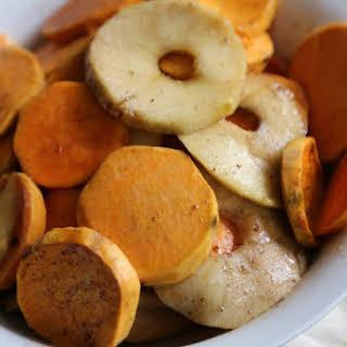 Crock Pot Apple Praline Sweet Potato Gratin.