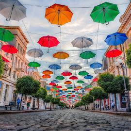 colourful street by Cornelius D - City,  Street & Park  Street Scenes