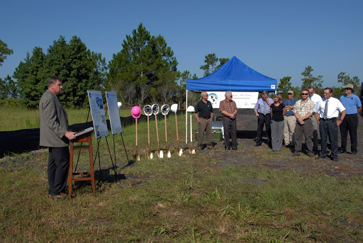 A new weather radar site is dedicated with a mock ground breaking ceremony.