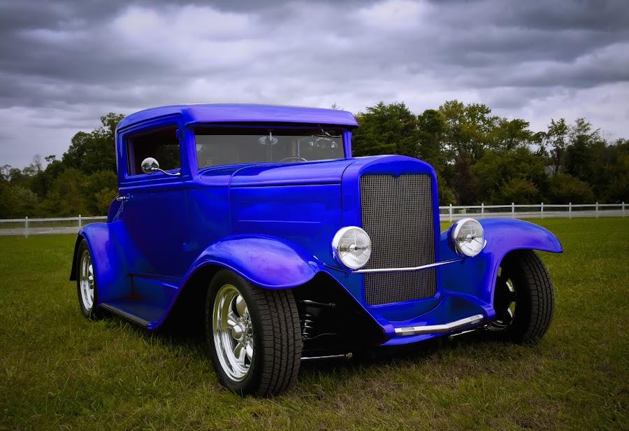 Roadster by Berl Thomas - Transportation Automobiles ( car, blue, transportation, land, device,  )