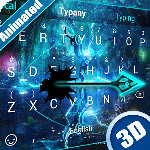 3D Lightning Weapon Theme&Emoji Keyboard