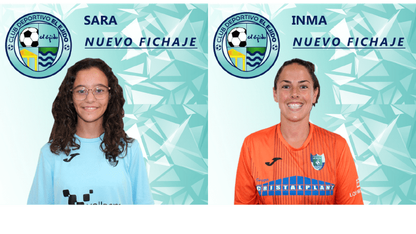 Las dos nuevas jugadoras del C D El Ejido.