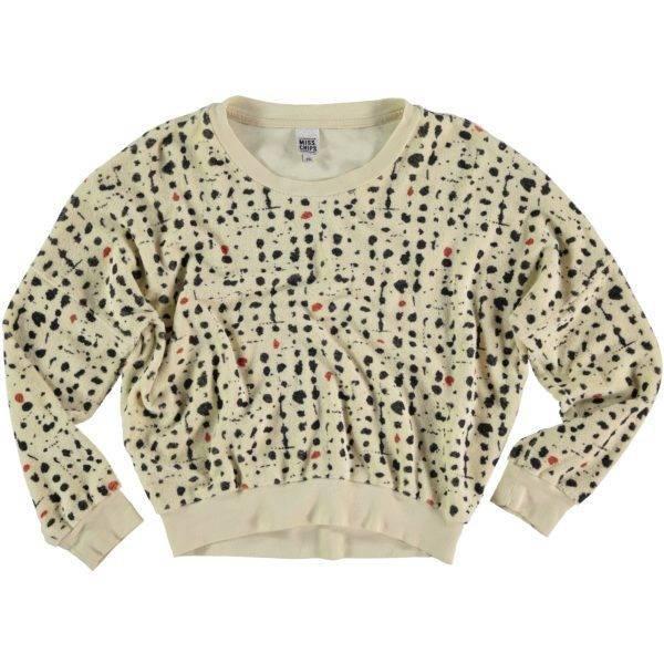 Sweater Terry Fleece Dalmatian Print
