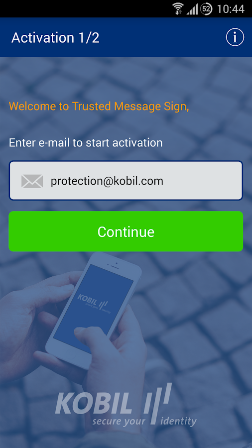 Kobil Trusted Message Sign- screenshot