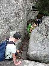 Photo: Passage étroit en forêt de Fontainebleau