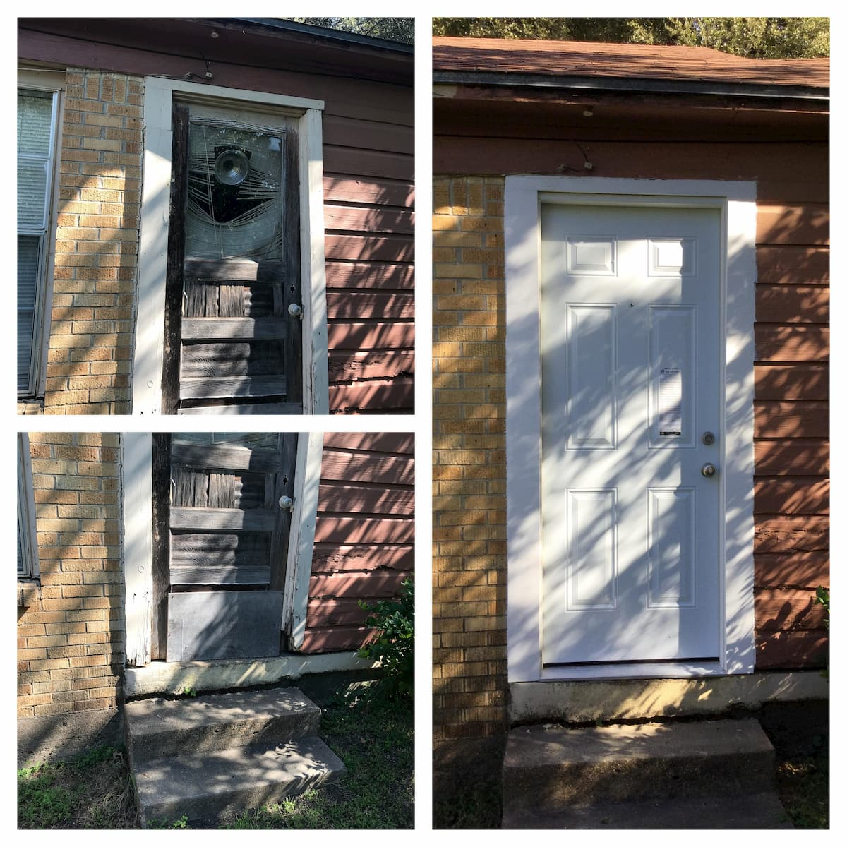 Mr. Handyman front door installation