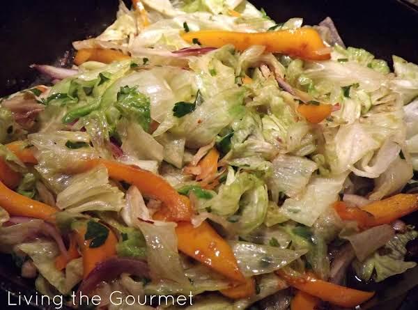 Warm Sautéed Lettuce Salad