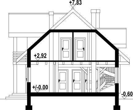 Milicz dw11 - Przekrój