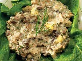 Russian Egg And Mushroom Salad Recipe