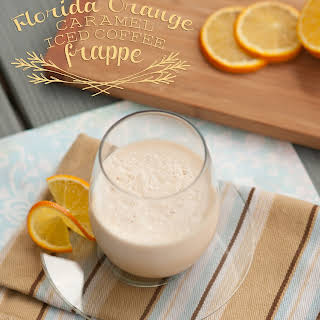 Florida Orange Caramel Coffee Frappe.