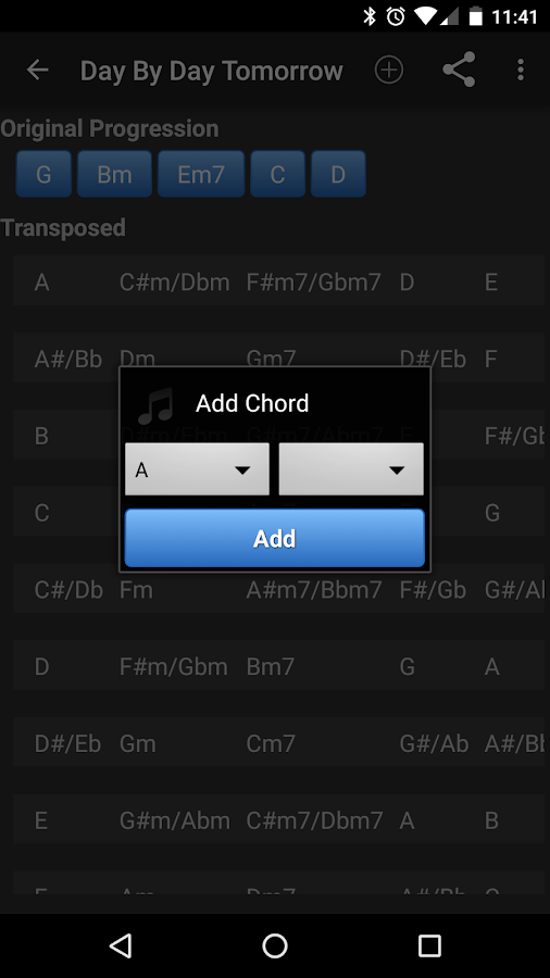 Chord Transposer- screenshot