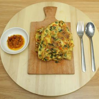Green Bean and Prawn Omelette