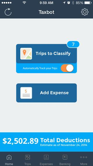 Taxbot - screenshot