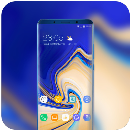App Insights: Theme for blue abstract samsung note9