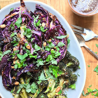 Charred Cabbage and Broccoli with Sesame Vinaigrette Recipe