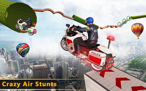 Police Bike Mega Ramp Impossible Bike Stunt Games painmod.com screenshots 13